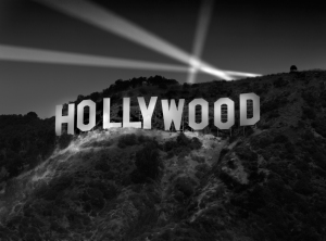 Richard Lund's Photograph, 'Hollywood Sign at Night'.
