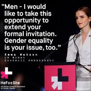 Emma Watson, Good Will Ambassador, 2014, www.heforshe.org